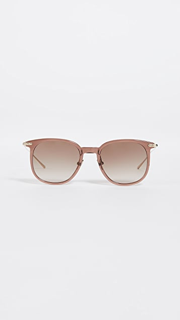Linda Farrow Luxe Крупные солнцезащитные очки Linear