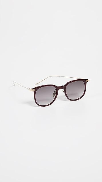 Linda Farrow Luxe Большие солнцезащитные очки «вейфарер» Linear