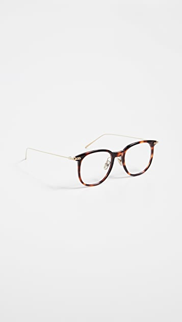 Linda Farrow Luxe Linear Optical Oversized Glasses