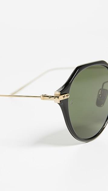 Linda Farrow Luxe Геометрические солнцезащитные очки Linear
