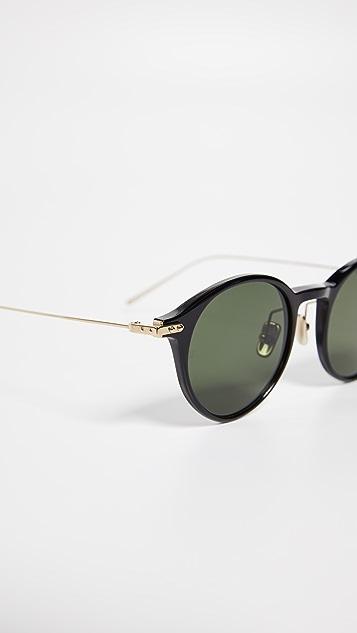 Linda Farrow Luxe Солнцезащитные очки Linear в округлой оправе
