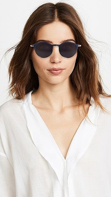 Linda Farrow Luxe Linear Round Sunglasses