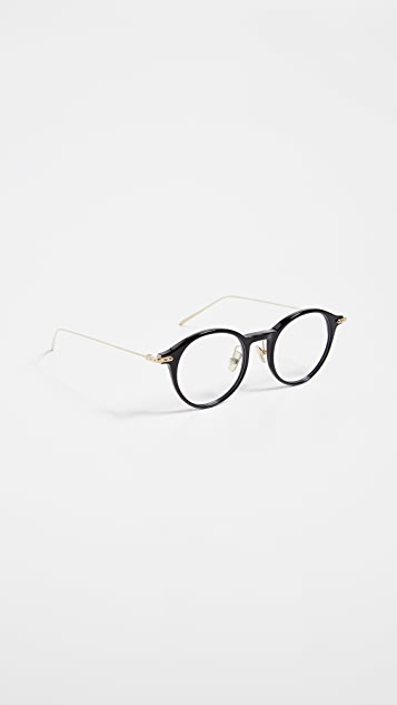 Linda Farrow Luxe Округлые очки Linear Optical