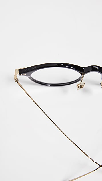 Linda Farrow Luxe Linear Optical Round Glasses