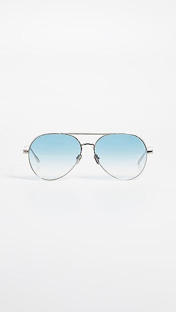 Linda Farrow Luxe Солнцезащитные очки «авиаторы»