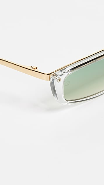 Linda Farrow Luxe Super Thin Cat Eye Sunglasses