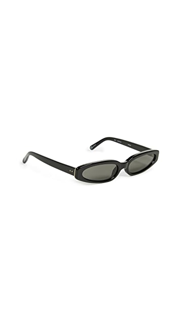 Linda Farrow Luxe Super Thin Acetate Sunglasses