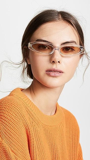 Linda Farrow Luxe Солнцезащитные очки в очень тонкой оправе