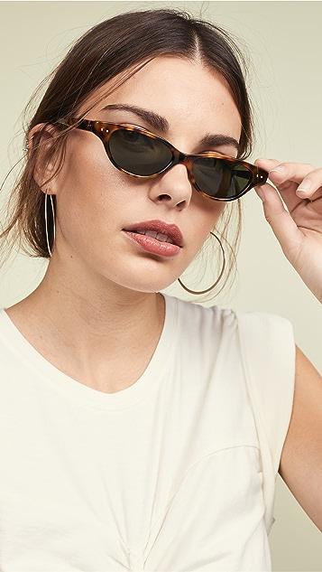 Linda Farrow Luxe Ацетатные солнцезащитные очки «кошачий глаз»