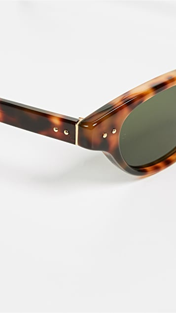 Linda Farrow Luxe Acetate Cat Eye Sunglasses