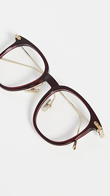 Linda Farrow Luxe Объемные очки «вейфарер» Linear Optical