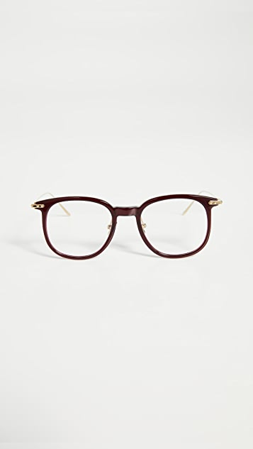 Linda Farrow Luxe Linear Optical Oversized Glasses