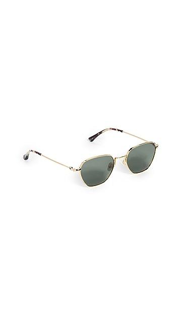 Linda Farrow Luxe Alessandra Rich x Linda Farrow Sunglasses with Chain