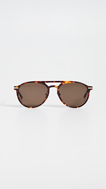 Linda Farrow Luxe Acetate Aviator Sunglasses