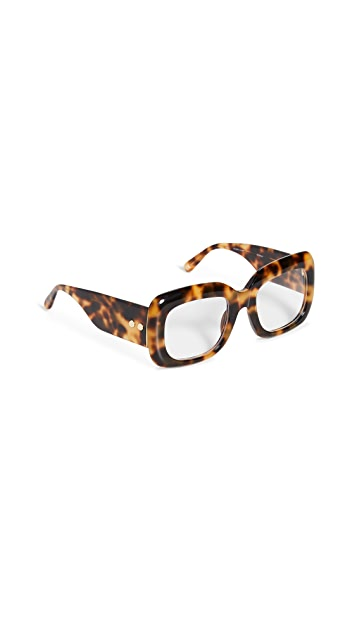Linda Farrow Luxe Acetate Rectangle Glasses