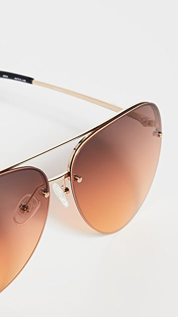 Linda Farrow Luxe Matthew Williamson x Linda Farrow Classic Aviator Sunglasses