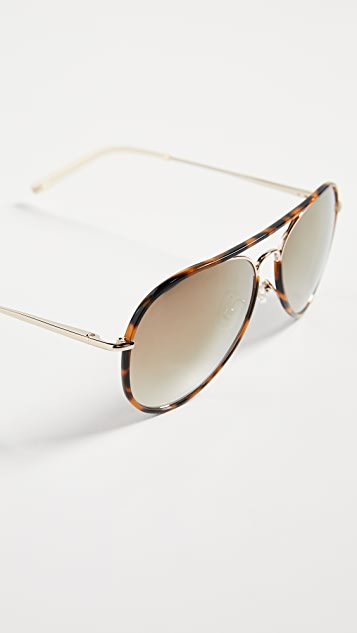 8fdc1c077114 ... Linda Farrow Luxe Matthew Williamson x Linda Farrow Classic Aviator  Sunglasses ...