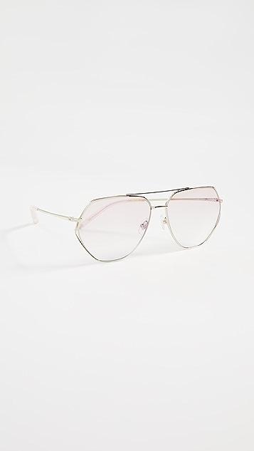 Linda Farrow Luxe Солнцезащитные очки авиаторы Matthew Williamson x Linda Farrow