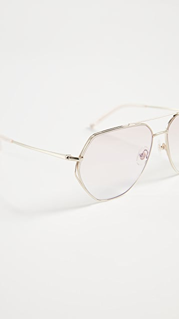 174c16220525 ... Linda Farrow Luxe Matthew Williamson x Linda Farrow Aviator Sunglasses  ...