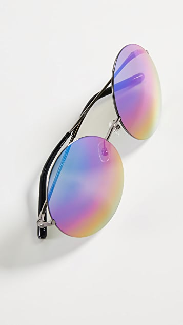 Linda Farrow Luxe Matthew Williamson x Linda Farrow Oversized Round Sunglasses