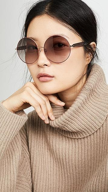 Linda Farrow Luxe Mathew Williamson X Linda Farrow Round Sunglasses