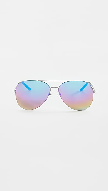 Linda Farrow Luxe Mathew Williamson x Linda Farrow Aviator Sunglasses