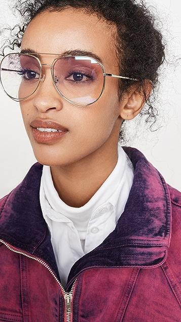 Linda Farrow Luxe x Mathew Williamson Aviator Sunglasses
