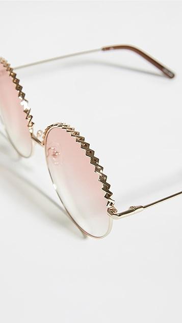 时髦墨镜 Linda Farrow Geranium 圆形太阳镜