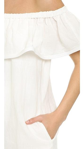Line & Dot Concorde Ruffle Dress
