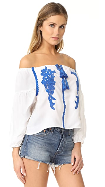 Line & Dot Valor Off Shoulder Top