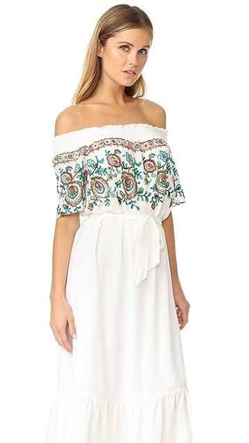 Line & Dot Flor Embroidered Dress
