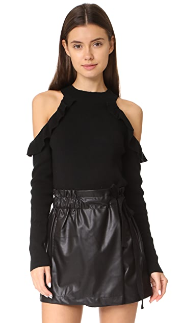 Line & Dot Beau Cold Shoulder Sweater