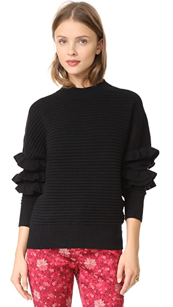 Line & Dot Beau Ruffle Sweater