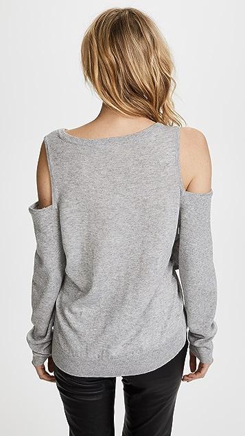 Line & Dot Roslyn Cold Shoulder Sweater