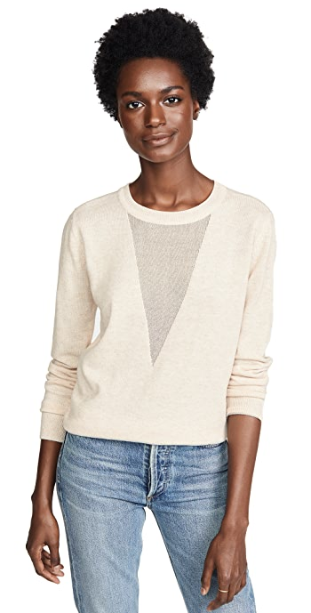 Line and Dot Mia Contrast Sweater - Oatmeal