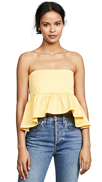 Line & Dot Tigre Strapless Top