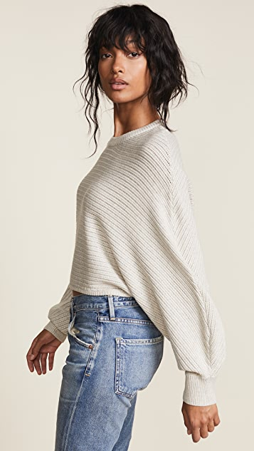 Line & Dot Iris Cropped Sweater