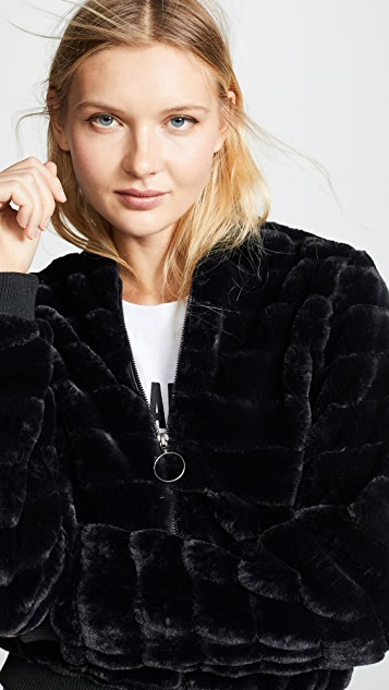 Line & Dot Aspen Faux Fur Jacket
