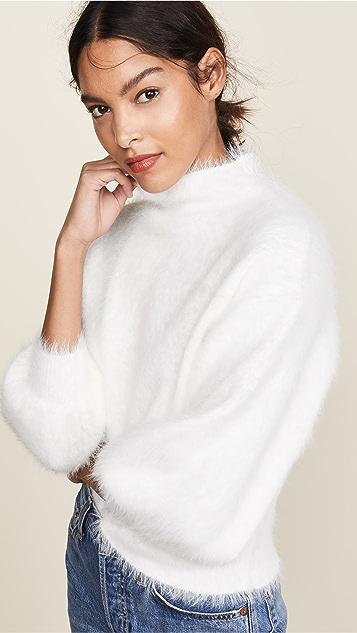 Line & Dot Fuzzy Alder Sweater