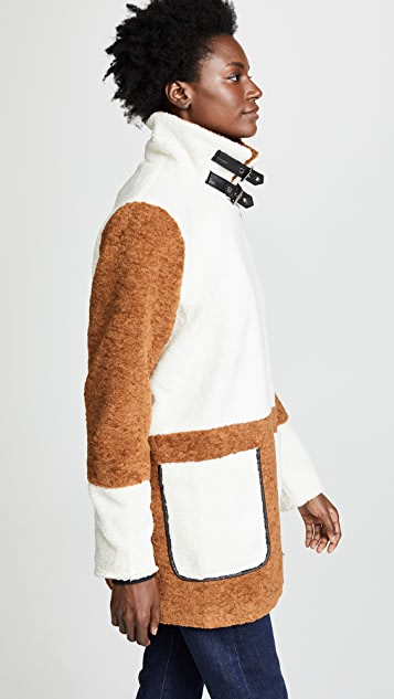 Line & Dot Faux Shearling Coat