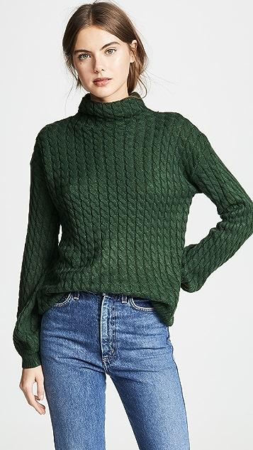 Line & Dot Связанный косичками свитер Juniper