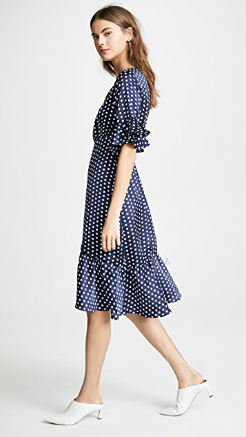 Line & Dot Elsie Ruffle Wrap Dress