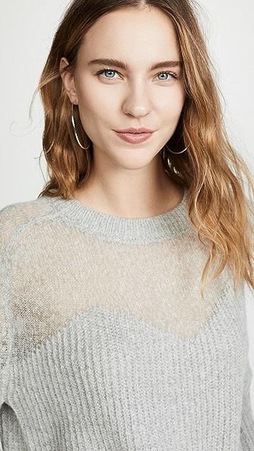Line & Dot Heavenly Sheer Sweater