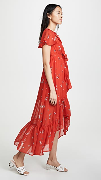 Line & Dot Pradera 中长连衣裙