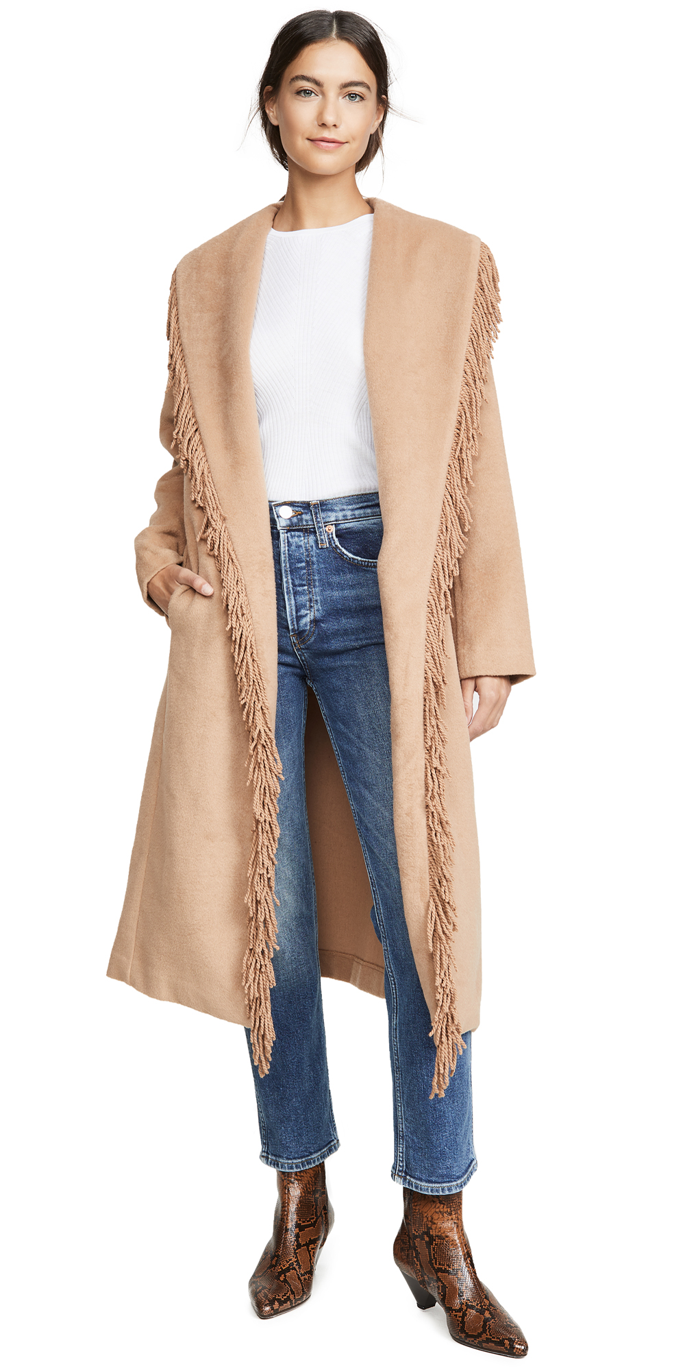 Linda Fringe Coat