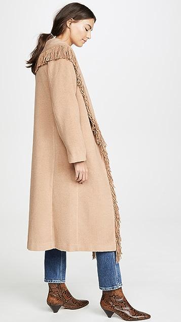 Line & Dot Пальто Linda с бахромой