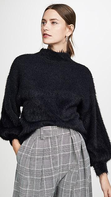 Line & Dot Fuzzy Alder 毛衣