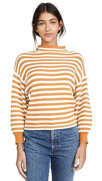 Line & Dot Striped Alder Sweater