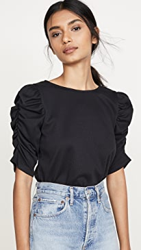 Morena Knit Ruched Top