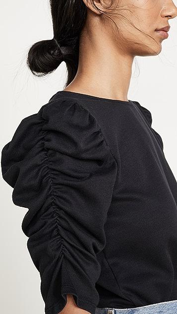 Line & Dot Morena Knit Ruched Top